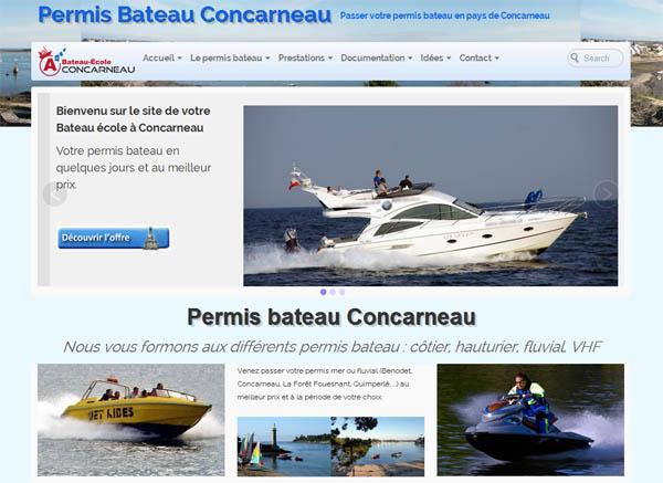 bateau-école à Concarneau
