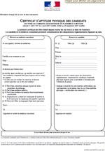 Certificat d'aptitude physique